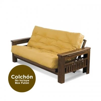 Colchon Futon Genoud Triple Con Resorte Cuerina Maiz