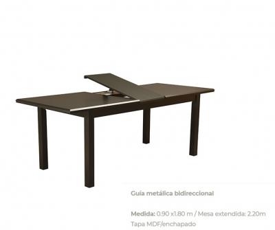 Mesa Madera Oriental Ext. 1.80/2.20 X 0.90 Cod. 2131