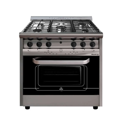 Cocina Morelli Forza 900 5h Puerta De Vidrio/inoxidable