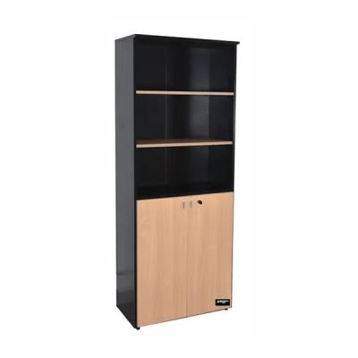 Biblioteca Platinum  Puertas Bajas  Mod. 530 0.75 X 1.88 X 0.35 Color Haya/negro  2 Ptas
