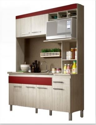 Conjunto Cocina Delos Mod. New Verona Cv6010 6 Puertas/2 Caj   Bali C/ Bordo O Roble