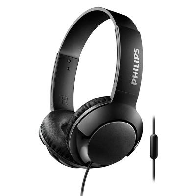 Auricular Philips Shl3075bk/00 Negro On Ear Linea Bass+ /mic Para Manos Libres/boton Para Atender