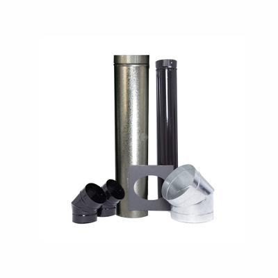 Calefactor A LeÑa Kit Salida Tromen Complemento Pared 4