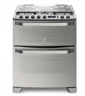 Cocina Electrolux 76 Dxr Doble Horno C/gas-gas/grill Inox
