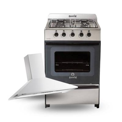 Cocina Escorial Master Inox + Campana Spar 060 Acero (57128+57361)