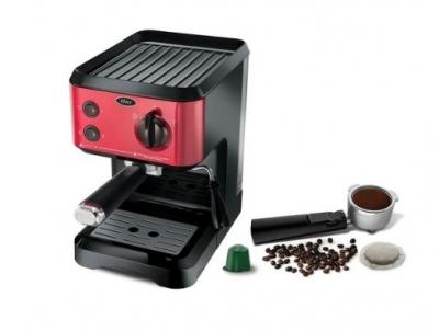 Cafetera Oster Ecmp65r Express 19 Bares/2 Tazas/2 En 1 Cafe Molido Y Capsulas Nespresso