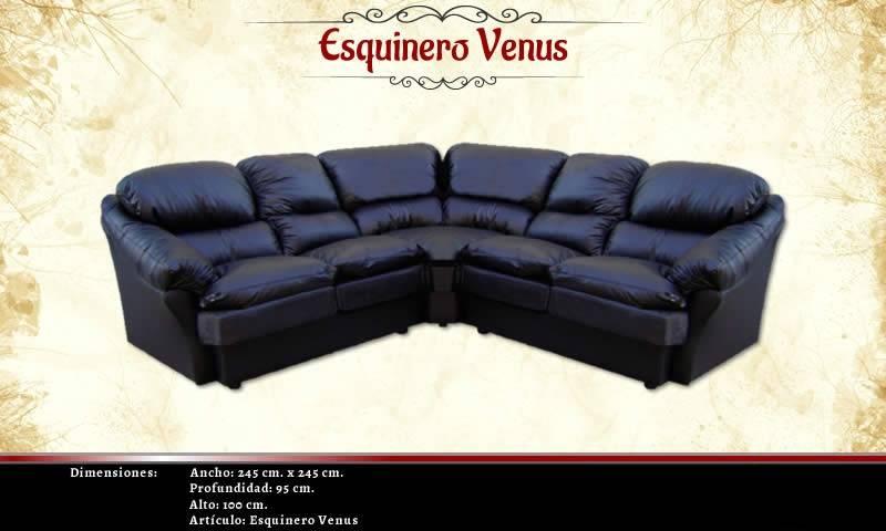 Juego Centro Living Venus Esquinero Ecocuero