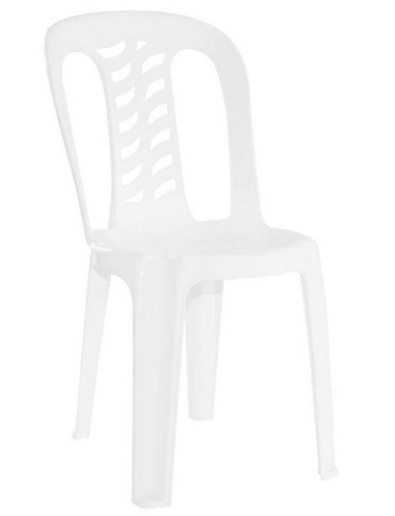 Silla Pvc Apilable Garden Life Mod. Bistro Color  Blanca