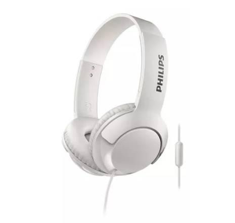 Auricular Philips Shl3075wt/00 Blanco On Ear Linea Bass+ /mic Para Manos Libres/boton Para Atender